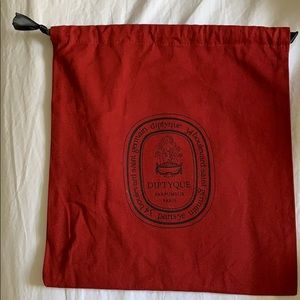 Diptyque candle dust bag red